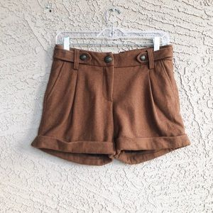 SANCTUARY High Waisted Wool Vintage Look Shorts